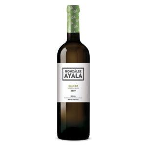 Botella de Vino Blanco en tienda
