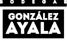 Logotipo González de Ayala blanco para pantallas retina